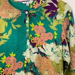 CAbi Tops - Cabi Silk Tunic Blouse Bell Sleeve Large